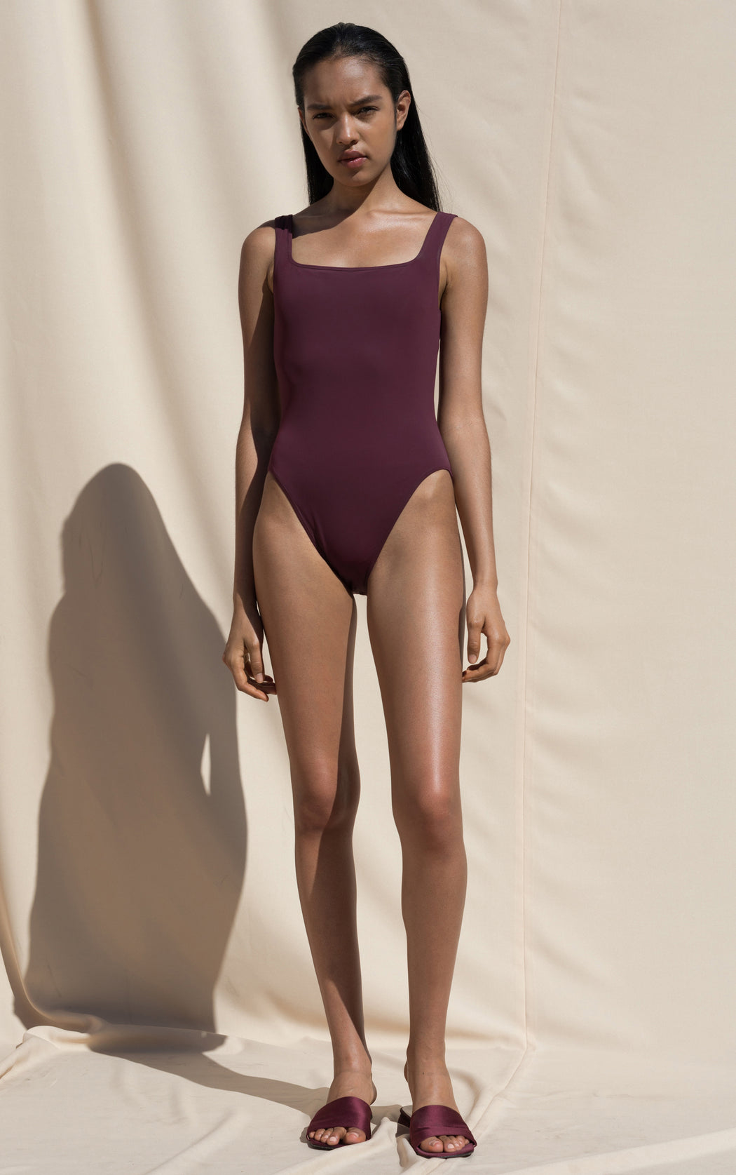 Sylph One Piece Swimsuit - Maroon
