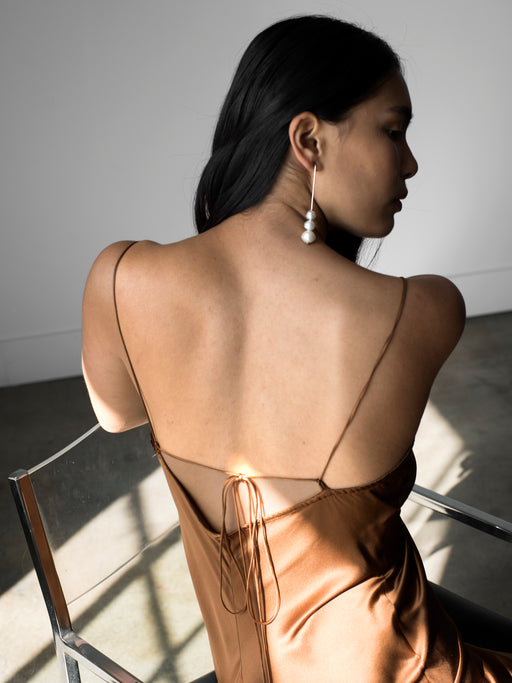 Sandoval Slip Dress - Bronze
