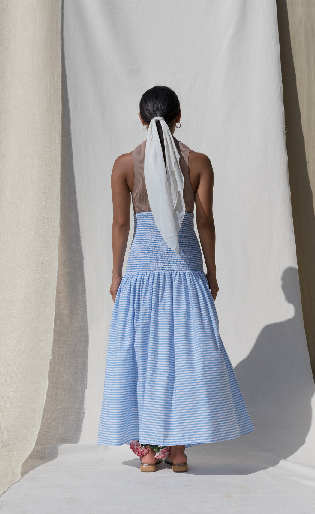 Pondicherry Skirt/Dress - Azure Stripe