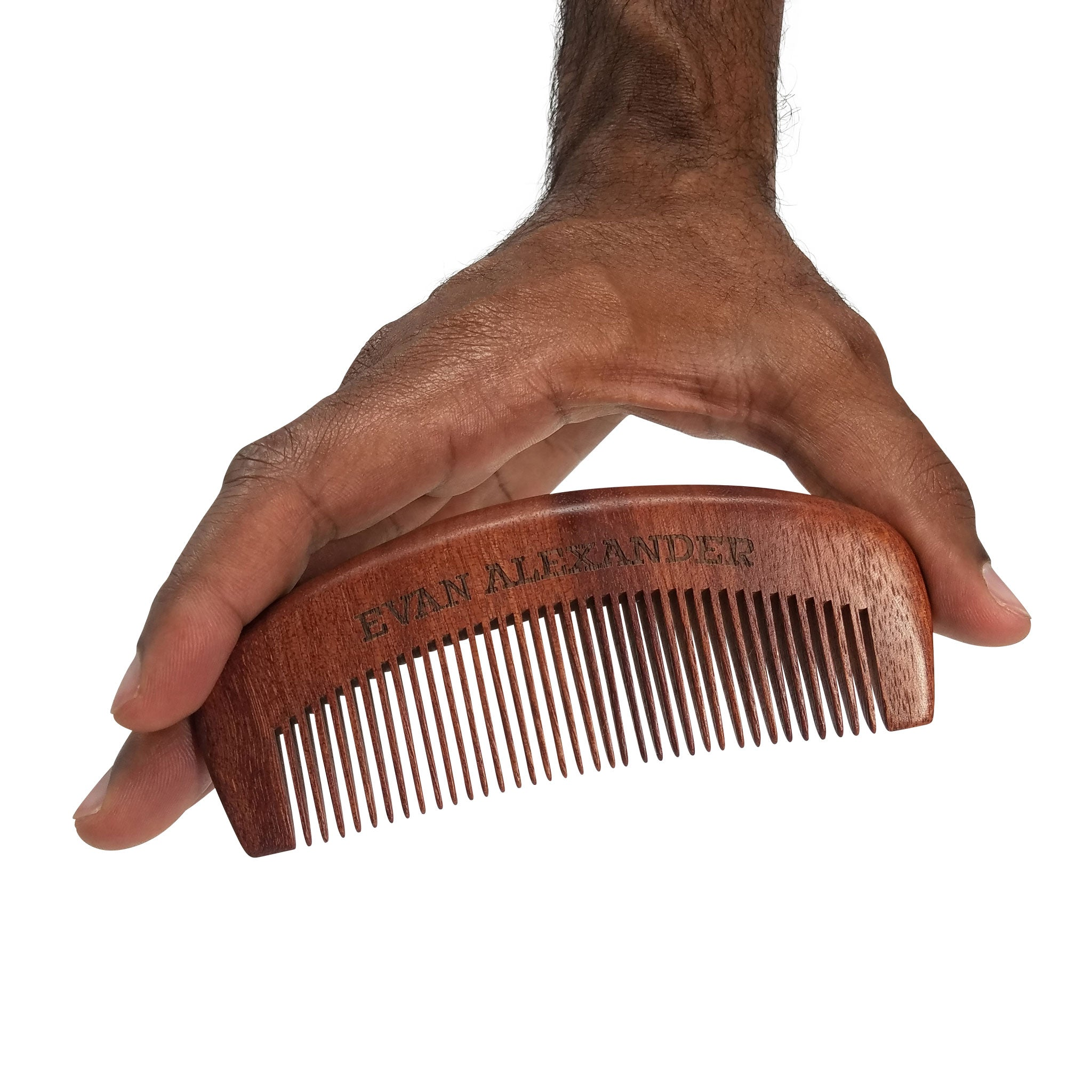Wooden Beard Comb (Red Sandalwood)