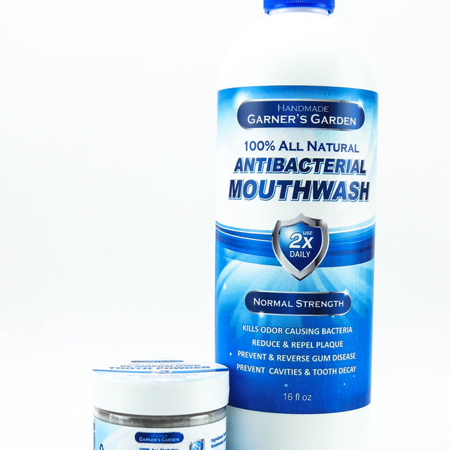 Natural Mouthwash and Tooth Powder