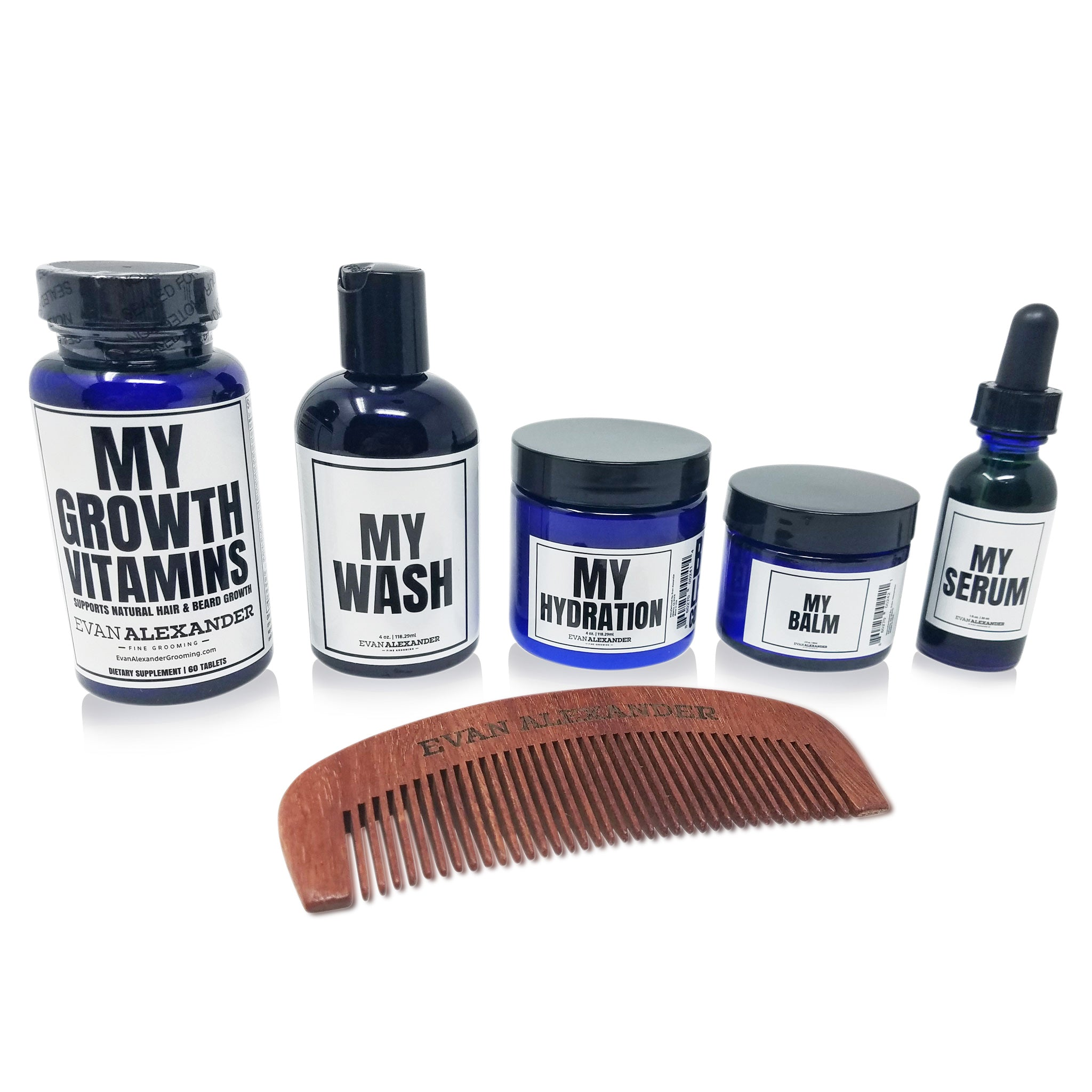 MY GROWTH BEARD KIT (SANDALWOOD COMB)
