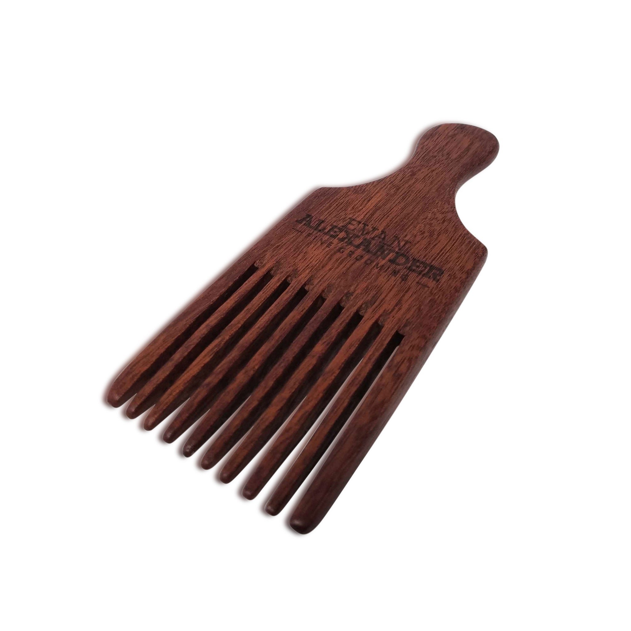 Wooden Beard Pick (Red Sandalwood)