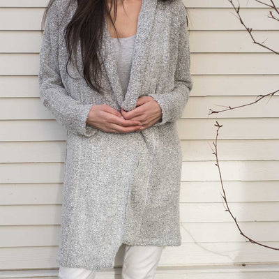 cozy-knit-open-cardigan-stone-color-on-model-facing-front-pokoloko