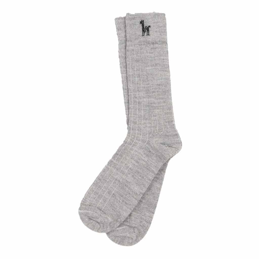 grey-everyday-alpaca-socks-on-grey-floor-pokoloko