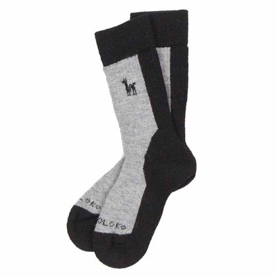 black-and-grey-alpaca-hiker-sock-pair-pokoloko