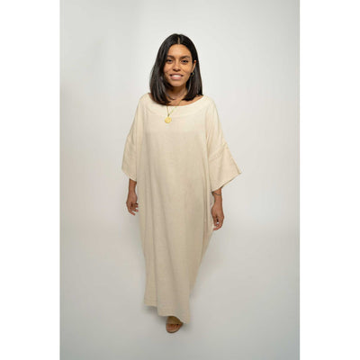 pokoloko-womens-classic-dress-natural-full-forward-studio-smiling