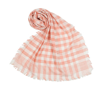 pokoloko-check-scarf-peach-above