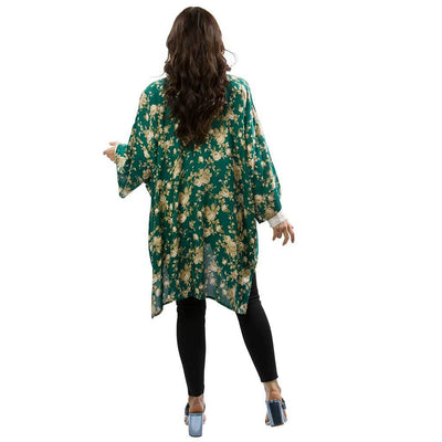 open-kimono-floral-teal-rear-facing-pokoloko
