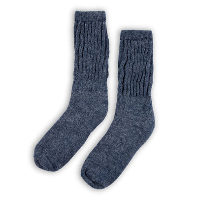 pokoloko-circulation-alpaca-socks-Heather Blue-product-photo-in-studio
