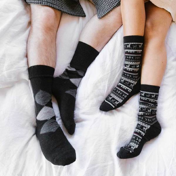 black-alpaca-print-sock-pokoloko-transparent-product-image