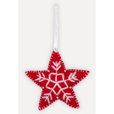 Hand-Embroidered Ornament - Star