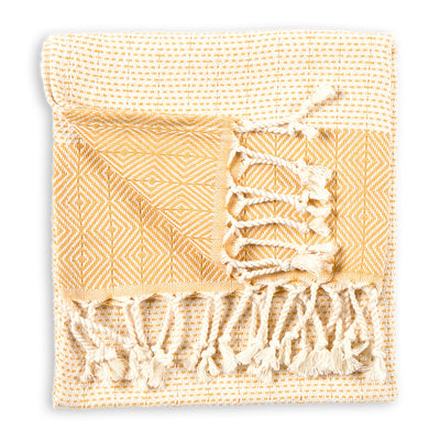 pokoloko-lined-diamond-cotton-hand-kitchen-turkish-towel-gold-color-folded-flat-in-studio-corner-flipped