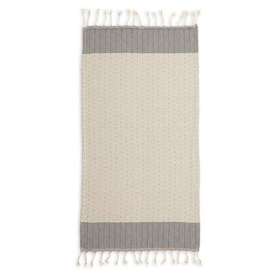 pokoloko-lined-diamond-cotton-hand-kitchen-turkish-towel-wide-flat-in-studio-medium-grey-slate-color