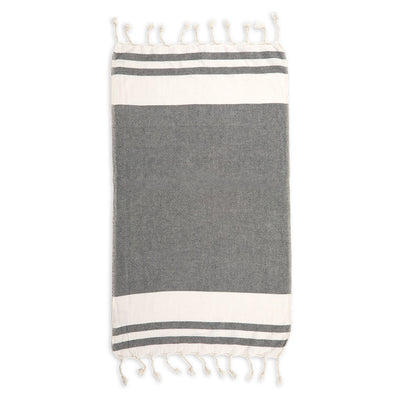 pokoloko-classic-turkish-hand-towel-black-colour-unfolded