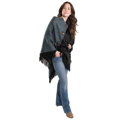 coco-button-triangle-poncho-black-grey-pokoloko