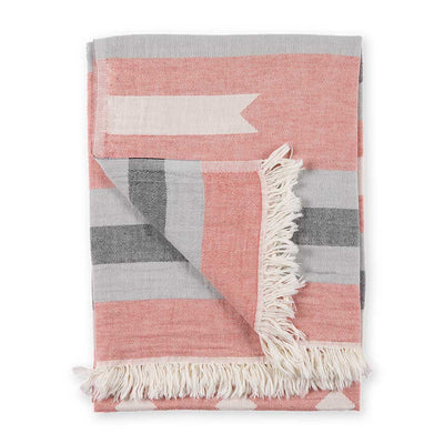 pokoloko-ribbon-jacquard-towel-red-color-folded-flipped-corner