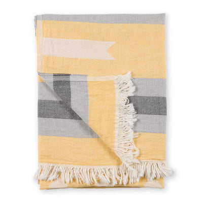 pokoloko-ribbon-jacquard-towel-yellow-color-folded-with-flipped-corner