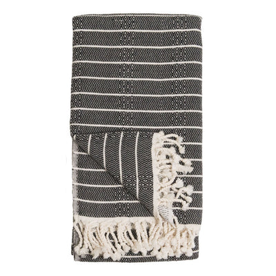 pokoloko-striped-bamboo-turkish-towel-monochrome-color-folded-flat-in-studio-with-corner-flipped