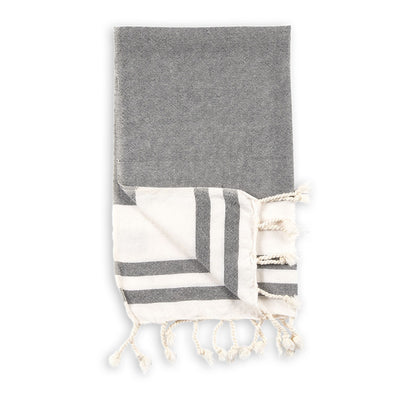 pokoloko-classic-turkish-hand-towel-black-colour-corner-folded-up