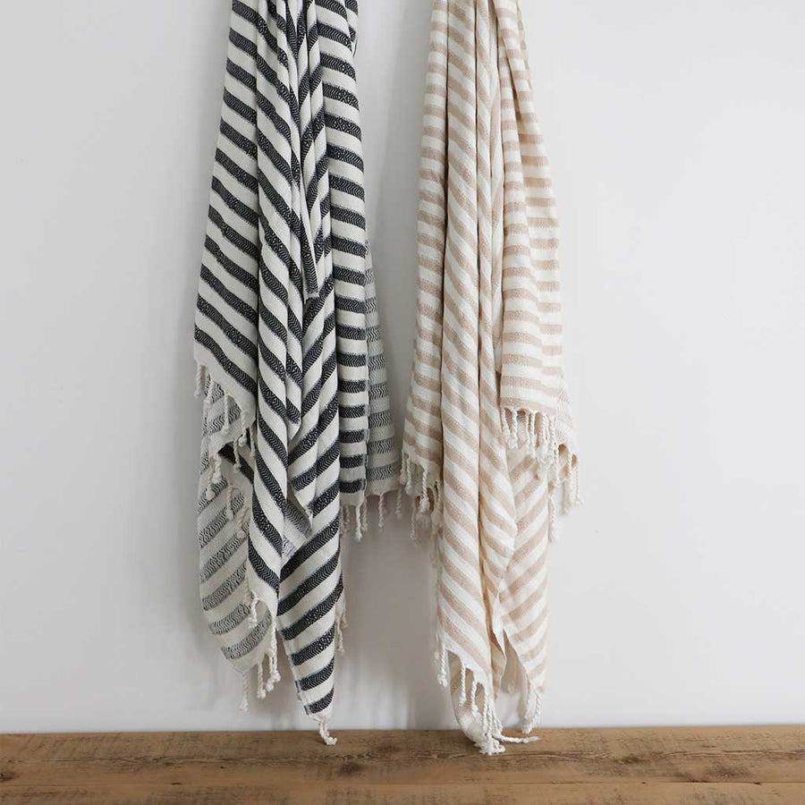 pokoloko-zebra-bamboo-turkish-towel-beige-folded-with-flipped-corner
