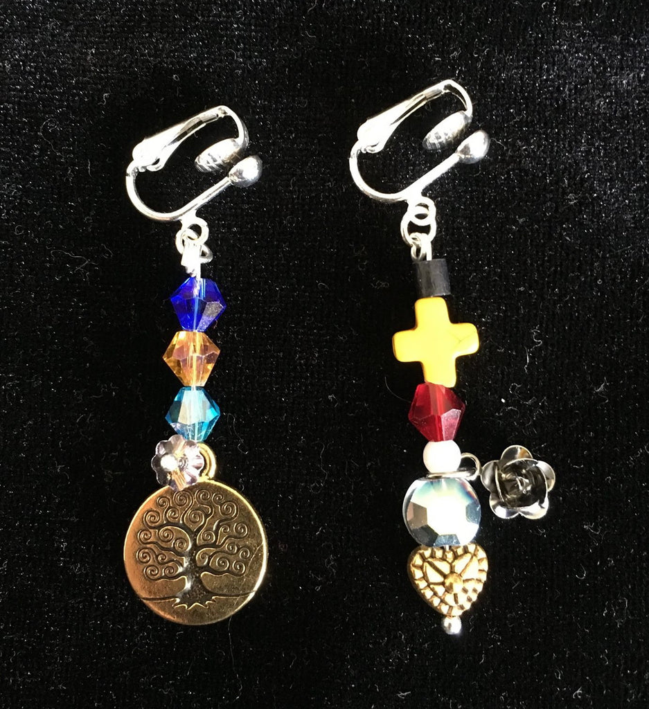 Bible Jewelry Earrings: Clip-on