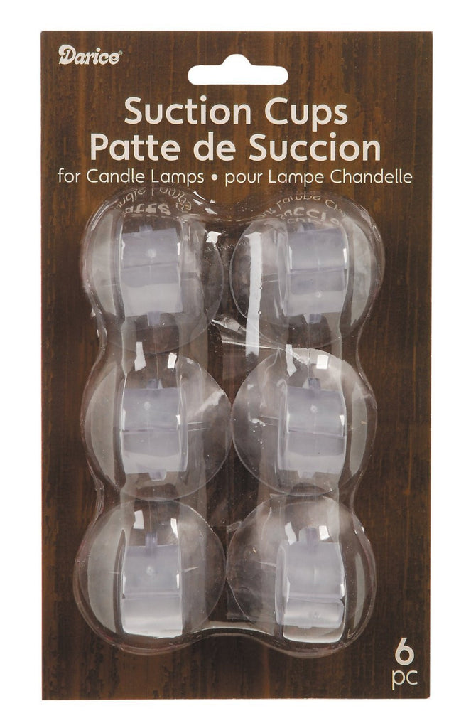 Darice 2445-96 6-Piece Suction Cup for Candle Lamps