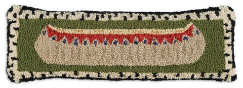 Birch Bark Canoe Pillow - True North Gallery