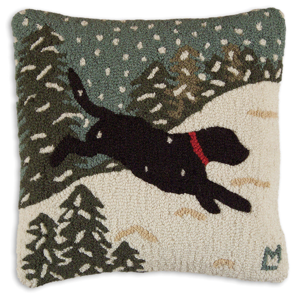 Snow Dog Pillow - True North Gallery