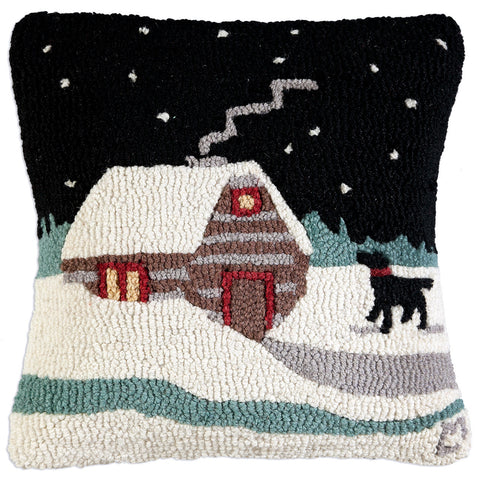 Winter Cabin Pillow - True North Gallery