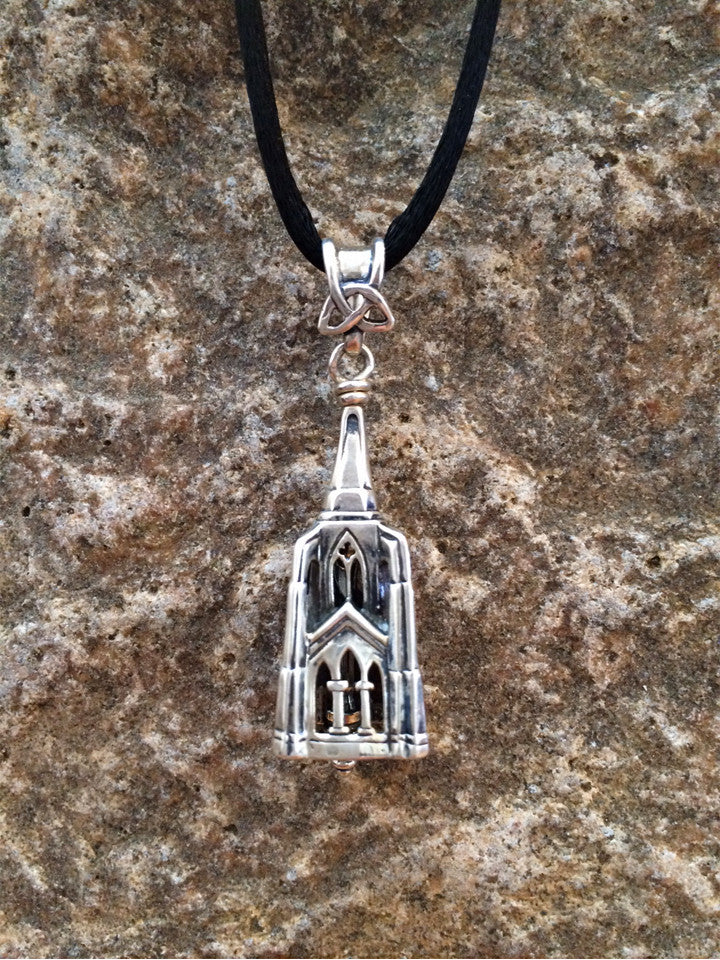 Gothic Steeple Bell Pendant - True North Gallery