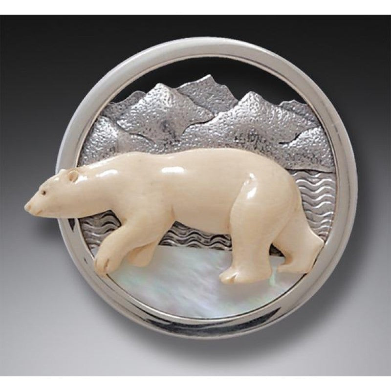 Vanishing Ice Cap Pin - True North Gallery