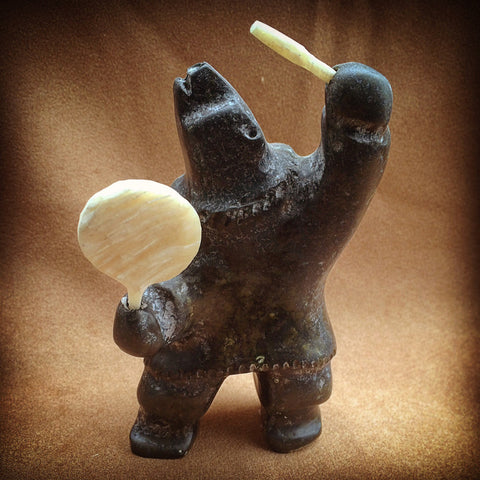 Small Shaman Bear Drummer - True North Gallery