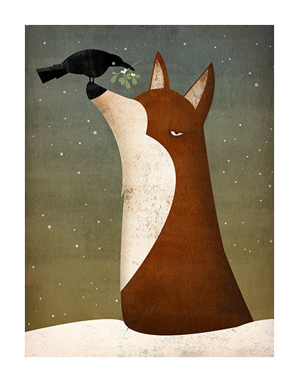 Fox, Crow & Mistletoe