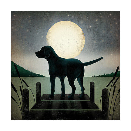 Black Dog on Dock - True North Gallery