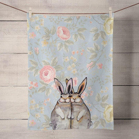 Eli Halpin Tea Towel: Rabbits - True North Gallery