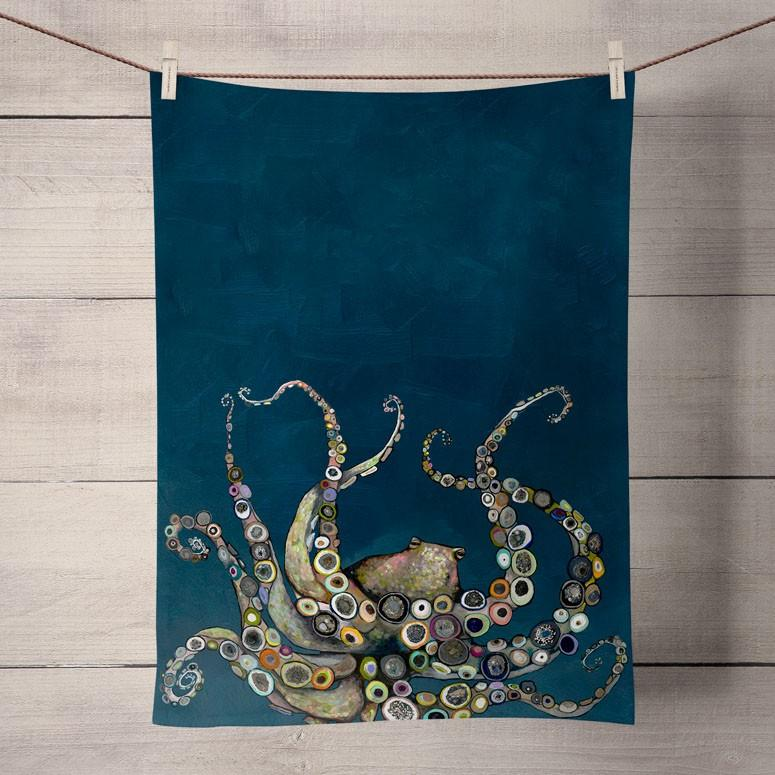 Eli Halpin Tea Towel: Octopus - True North Gallery