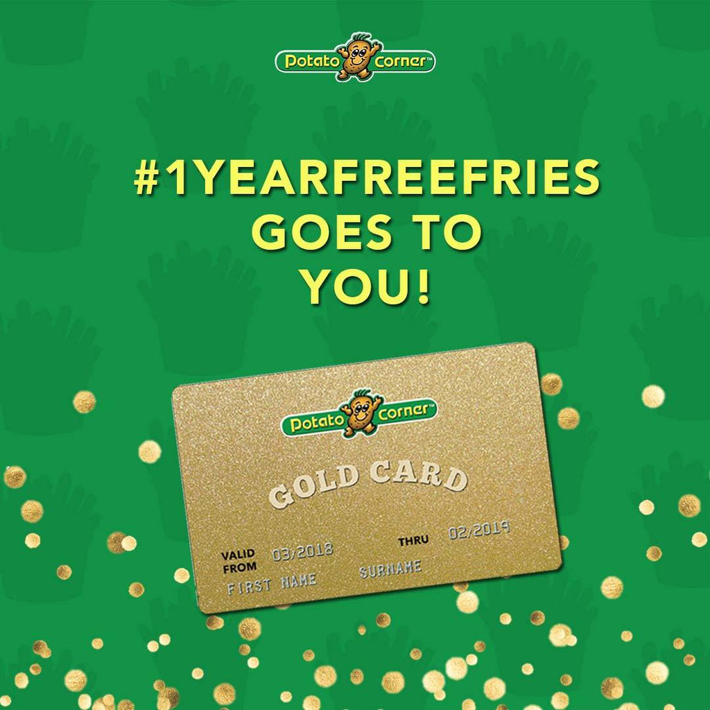 Potato Corner Gold Card Sweepstakes Winners [PROMOTIONS]