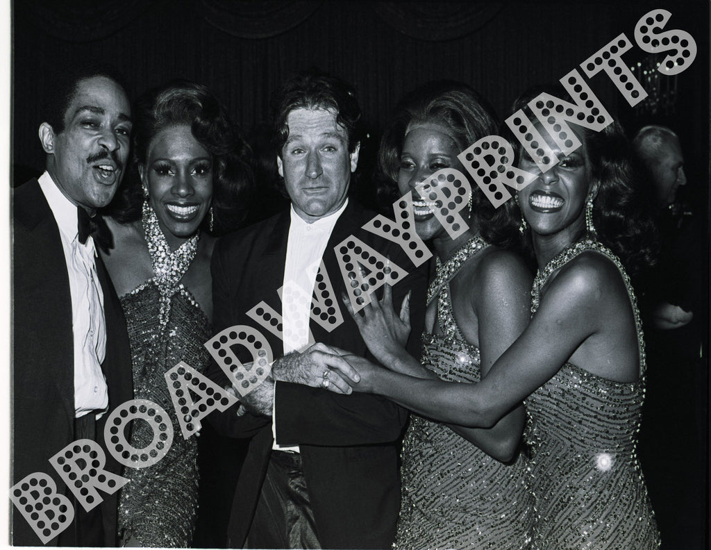 Robin Williams and cast members of Dreamgirls Acting Company Benefit 1982