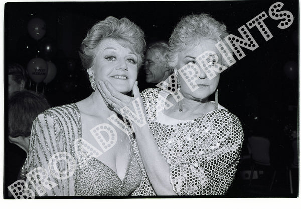 Angela Landsbury  Bea Arthur  backstage at 1987 Tony Awards