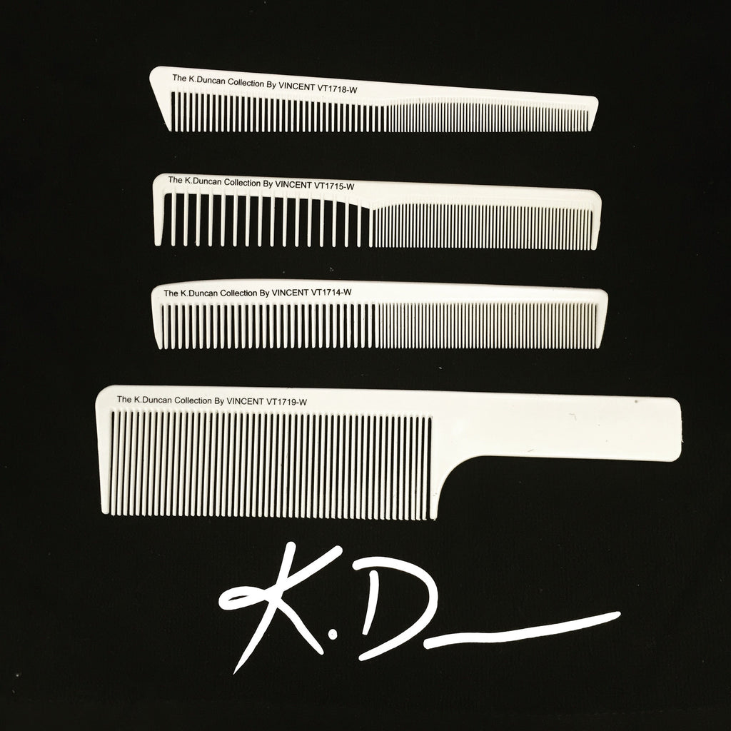 "THE KD CUTTING COMB COLLECTION ""THE BARBER COMBO"