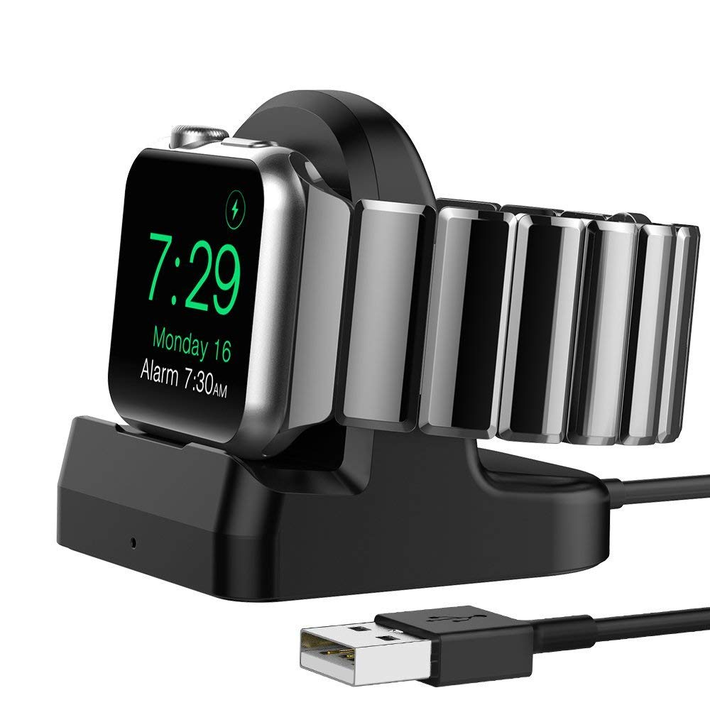 iPM Apple Watch Charging Dock Stand With Build-in USB Charging Cable
