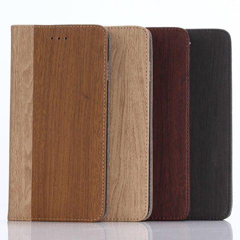 iPM Wood Style Wallet Case for iPhone 7/7+/8/8+
