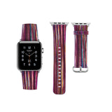 iPM WA63S Genuine Leather Painted Bright Color Apple Watch Band