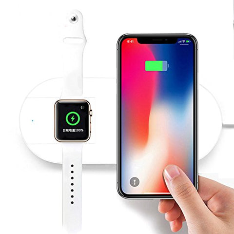 iPM 2 in 1 Wireless Charging Pad With Fast Qi Charger + Charger For Apple Watch