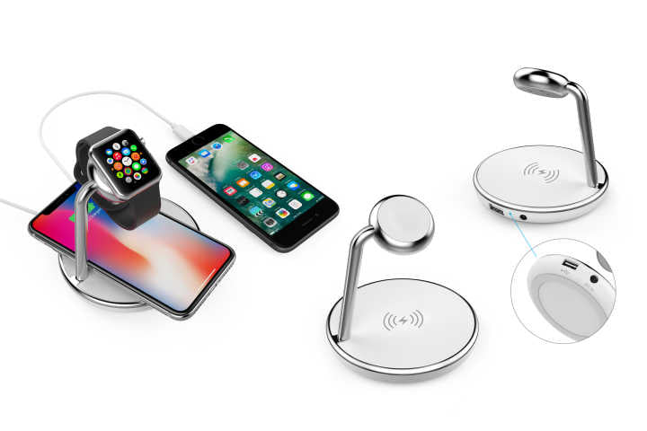 iPM Apple-Certified Apple Watch & iPhone Wireless Charging Pad With 1 USB Port