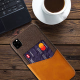iPM iPhone's 11 Credit Card Holder Shock Resistant Fabric Case