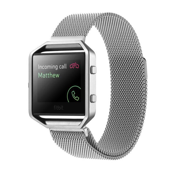 iPM Milanese Mesh Fitbit Blaze Replacement Band with Magnet Closure