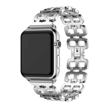 iPM Stainless Steel Chain Link 8 Band Replacement Band for Apple Watch