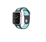 iPM ICEWA17E Soft Silicone Dual Color Watch Band For Apple Watch